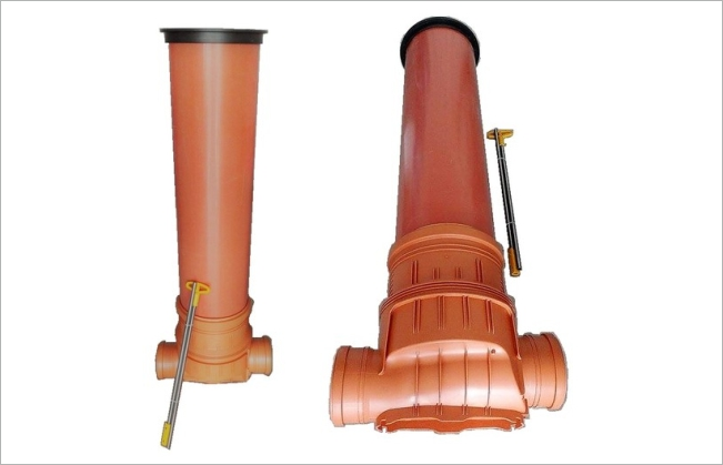 Sewer shafts with flap valve