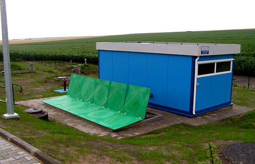 container waste water treatment plants